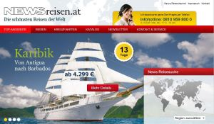 NEWS geht mit eigenem Reiseportal online